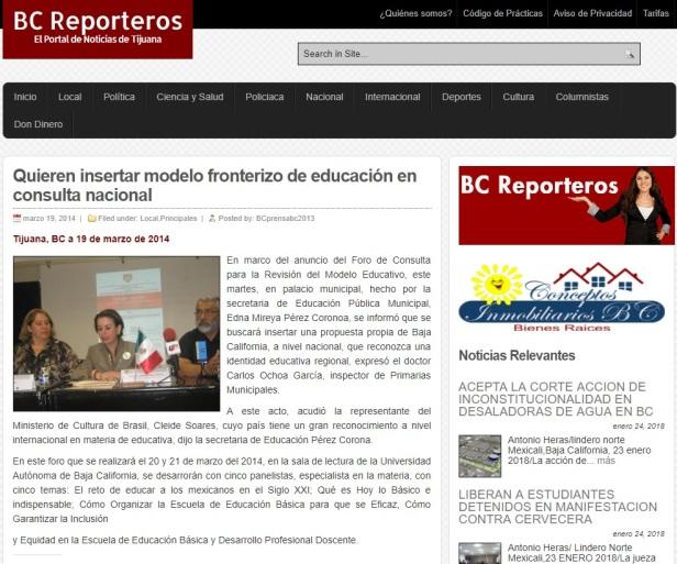 BC Reporteros - Quieren insertar modelo