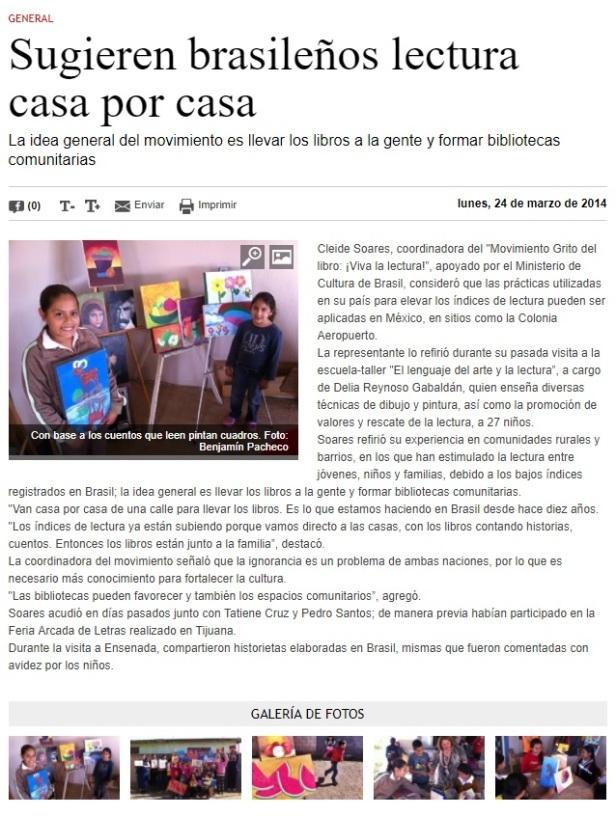 sugieren brasilenos lectura casa por casa